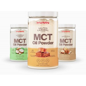 H.V.M.N. MCT Oil Powder - Keto Creamer Powder,  Pure C8 MCT Oil from Acacia Powder, - Chocolate, Hazelnut, Vanilla and Coconut cream available