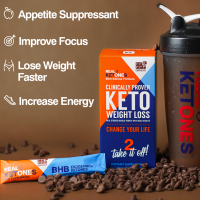 REAL KETONES- Weight Loss D-BHB Ketone Powder Stick Packs- CHOCOLATE (No Caffeine)
