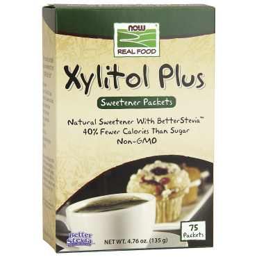 XYLITOL PLUS NATURAL SWEETENER WITH BETTER STEVIA (75PACKETS)