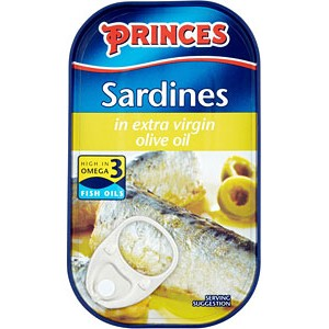 Princes Sardines in Extra Virgin Olive Oil