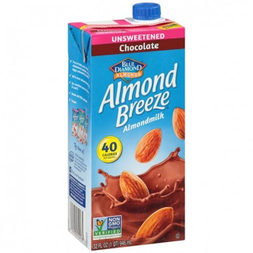 Blue Diamond Almond Breeze Unsweetened Chocolate Almond Milk, 946ml
