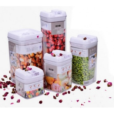 4-Piece E-buckle Storage Airtight Jar Sets