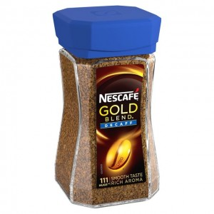 Nescafe Gold Blend Decaf Freeze Dried Instant Coffee - 100g