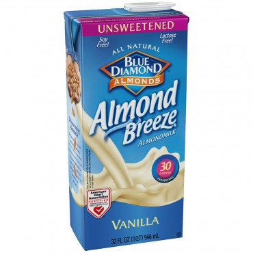 Blue Diamond® Almond Breeze® Unsweetened Vanilla Almond Milk 946ml