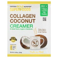 California Gold Nutrition, Superfoods, Collagen Coconut Creamer, Unsweetened, 24 g