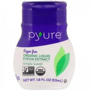 Pyure, Organic Liquid Stevia Extract, Simply Sweet, 1.8 fl oz (53 ml)