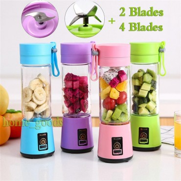 Portable USB Rechargeable Blender/Smoothie Maker/Bullet Coffee Maker- 3 colours