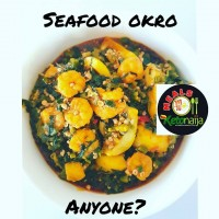 Sea Food Okro Soup with Keto-Swallow