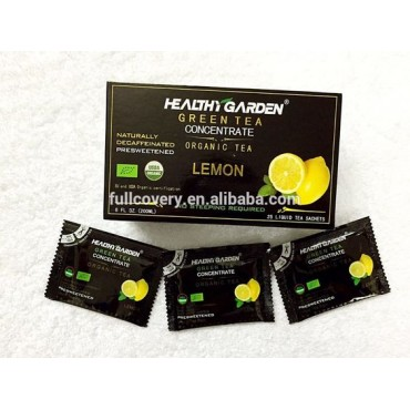 Healthy Garden Green Tea Concentrate- Lemon- Presweetened with Stevia