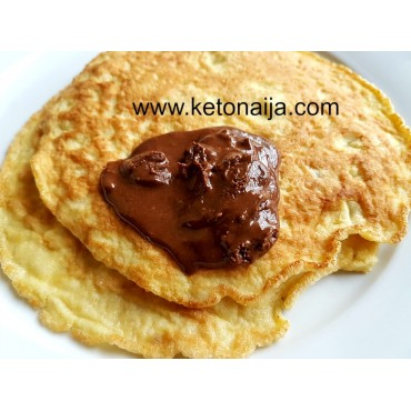 Almond Pancakes with Nutty Choc Spread
