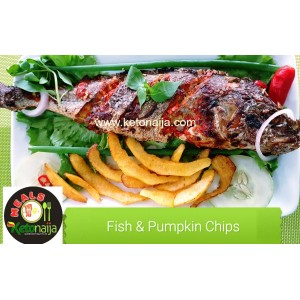 Grilled Fish & Pumpkin Chips