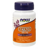 NOW Supplements, 7-Keto 100 mg, 30 Veg Capsules