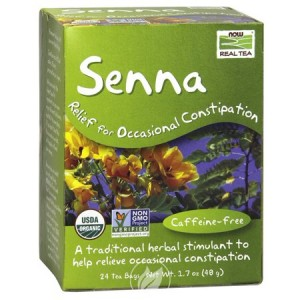 Now Foods - Real Tea, Senna, Caffeine-Free, 24 Tea Bags, 1.7 oz (48 g)