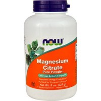 NOW Foods Magnesium Citrate Powder, 8 Oz