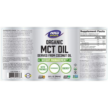 Now Sports Nutrition, MCT Oil