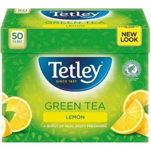 Tetley Green Tea Lemon 50 Tea Bags, 100g