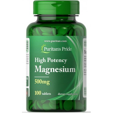 Puritan's Pride High Potency Magnesium Tablets