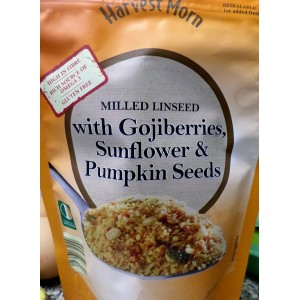 Milled Linseed (Flaxseed) with Gojiberries, Sunflower and Pumpkin Seeds - Harvest Morn (Aldi) 225g
