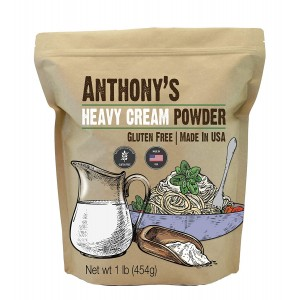 Anthony's Heavy Cream Powder, 1 lb, Batch Tested Gluten Free, No Fillers or Preservatives, Keto Friendly